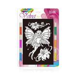 Set creatie pentru pictura pe catifea Orange Elephant, Little Fairy
