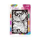 Set creatie pentru pictura pe catifea Orange Elephant, Firebird