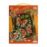 Set creatie pentru pictura pe catifea Orange Elephant, Velvel Fantasy, Butterflies