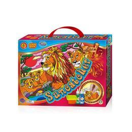 Set creatie pentru modelaj si pictura Orange Elephant, Lion