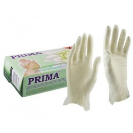 Manusi Vinil Pudrate Transparente Marimea L - Prima Vinil Examination Gloves Light Powdered Transparent L