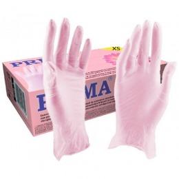 Manusi Nitril Roz Marimea XS - Prima Nitril Examination Pink Gloves Powder Free XS