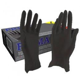 Manusi Nitril Negre Marimea L - Prima Nitril Examination Black Gloves Powder Free L