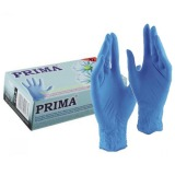 Manusi Nitril Albastre Marimea XL - Prima Nitril Examination Blue Gloves Powder Free XL
