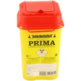 Recipient Plastic Deseuri Intepatoare - Prima ADR Plastic Container for Sharp Stinging Waste 1 litru