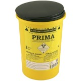 Recipient Plastic Deseuri Intepatoare - Prima ADR Plastic Container for Sharp Stinging Waste 3 litri