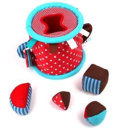 Cilindru pentru bebeluși cu activități din material textil - Eurekakids