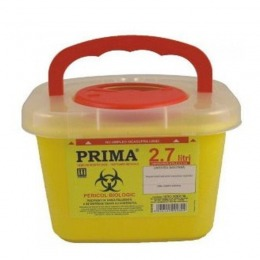 Recipient Plastic Deseuri Intepatoare Prima Plastic Container For Sharp Stinging Waste 2 7 Litri