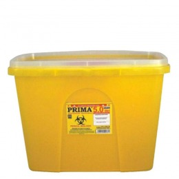 Recipient Plastic Deseuri Intepatoare Prima Plastic Container For Sharp Stinging Waste 5 Litri