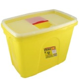 Recipient Plastic Deseuri Intepatoare - Prima Plastic Container for Sharp Stinging Waste 15 litri