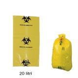 Sac Deseuri Infectioase - Prima Yellow Bag with Biological Hazard Sign 20 litri