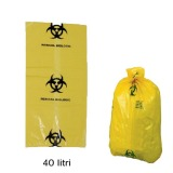 Sac Deseuri Infectioase - Prima Yellow Bag with Biological Hazard Sign 40 litri