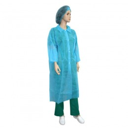 Halat Albastru Protectie Tip Laborator Prima Blue Ppsb Lab Coat No Pocket Snaps On Front