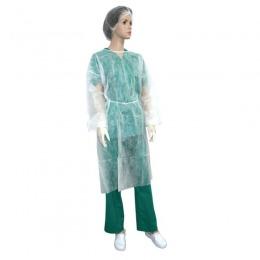 Halat Alb Protectie Tip Vizitator Prima White Ppsb Isolation Gown 10 Buc