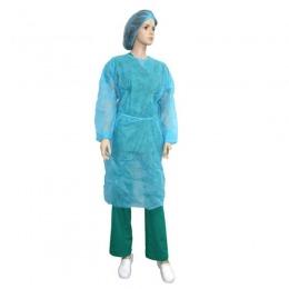 Halat Albastru Protectie Tip Vizitator Prima Blue Ppsb Isolation Gown 10 Buc