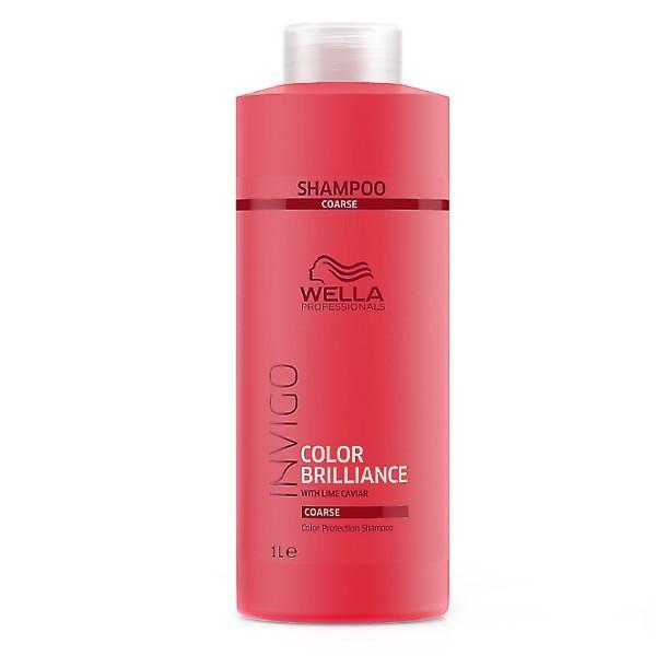 Sampon pentru Par Vopsit, Aspru - Wella Professionals Invigo Color Brilliance Color Protection Shampoo Coarse Hair, 1000ml imagine