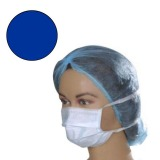 Masca Protectie Albastra cu Legaturi - Prima Blue Surgical Face Mask Ties on Both Sides 50 buc