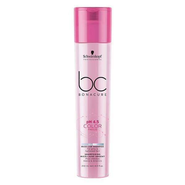 Sampon Micelar pentru Par Blond si Grizonat - Schwarzkopf BC Bonacure pH 4.5 Color Freeze Silver Micellar Shampoo, 250ml imagine produs