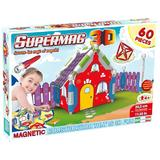 Jucarie cu Magnet Casuta 60 piese - Supermag 3D