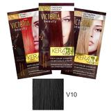 Sampon Nuantator cu Keratina Camco Victoria Beauty Keratin Therapy, nuanta V10 Black, 40ml