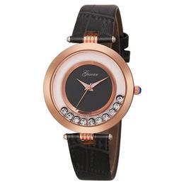 Ceas de dama Gescar curea piele - inchisa, stil Elegant