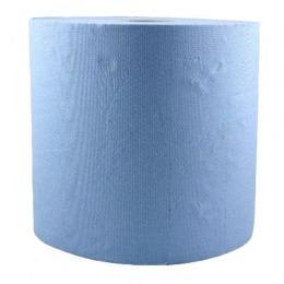 Rola Hartie Industriala Albastra - Prima Blue Towel Tissue Paper Roll 26 cm x 296 m