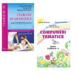 Pachet Lizuka Educativ Compuneri Tematice Pentru Clasele 3-4 + Exercitii De Gramatica - Luiza Chiazn, editura Lizuka Educativ
