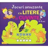 Jocuri amuzante cu litere si cuvinte 6-8 ani, editura Teora