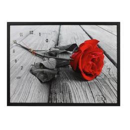 Tablou Cu Ceas Inramat 50x70 Cm Rose
