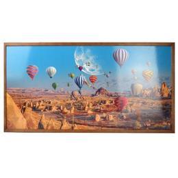 Tablou Cu Ceas Inramat 50x100 Cm Baloon