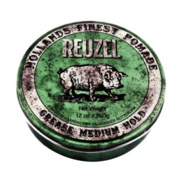 Pomada Fixare Medie si Aspect Natural - Reuzel Grease Medium Hold Green Pomade 340 gr