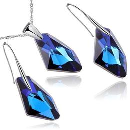 Set argint, Set Swarovski Electric Blue (Set Criando Bijoux)