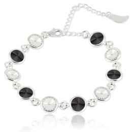Bratara argint, Bratara Swarovski Shine Black Crystal (Bratara Criando Bijoux) + CADOU Laveta curatat bijuteriile din argint