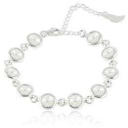 Bratara argint, Bratara Swarovski Shine Crystal Clear (Bratara Criando Bijoux) + CADOU Laveta curatat bijuteriile din argint