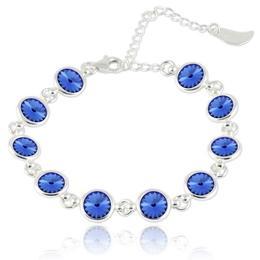 Bratara argint, Bratara Swarovski Shine Sapphire (Bratara Criando Bijoux) + CADOU Laveta curatat bijuteriile din argint