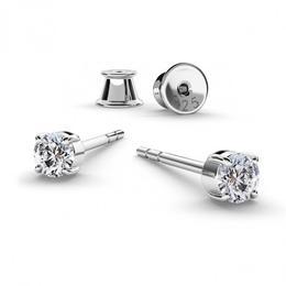 Cercei Argint, Cercei Swarovski Zirconia Crystal Clear (Cercei Criando Bijoux)