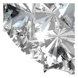 Cercei argint placat cu Rodiu Negru, Cercei Swarovski Zirconia Crystal Clear 6mm