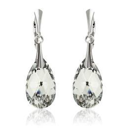 Cercei argint, Cercei Swarovski Pear Crystal CAL 22mm (Bijuterii Argint)