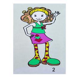 Set pictura pe numere pt copii - Fetita 2 - 30x20 cm, panza pe rama - Ileana