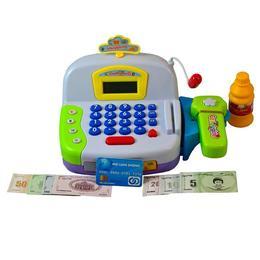 Casa de marcat cu scanner detasabil, sunete, bani si accesorii pentru vanzare - alba - Cash Register