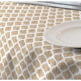 Fata de masa anti-pete Casa de bumbac, Cell, 280x140 cm, model geometric, bej