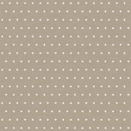 Fata de masa impermeabila Casa de bumbac, Amore, 220x140 cm, inimioare, bej si alb