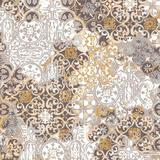 Fata de masa impermeabila Casa de bumbac, Tiles, 100x140 cm, Model geometric, bej