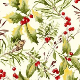 Fata de masa anti-pete Casa de bumbac, Buche de Noel, 140x180 cm, Multicolor