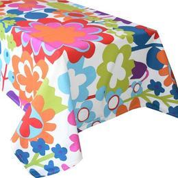 Fata de masa bumbac 100%, Casa de bumbac, 180x150 cm, Floral, multicolor