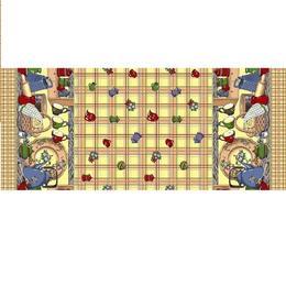 Fata de masa bumbac 100%, Casa de bumbac, 180x150 cm, Cescute, Maro si bej