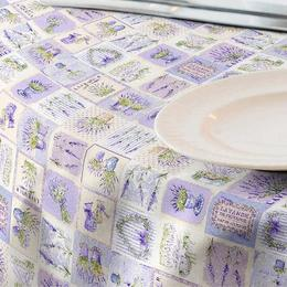 Fata de masa impermeabila (teflonata) Casa de bumbac, Lavender, 180x140 cm, Model Vintage, lavanda