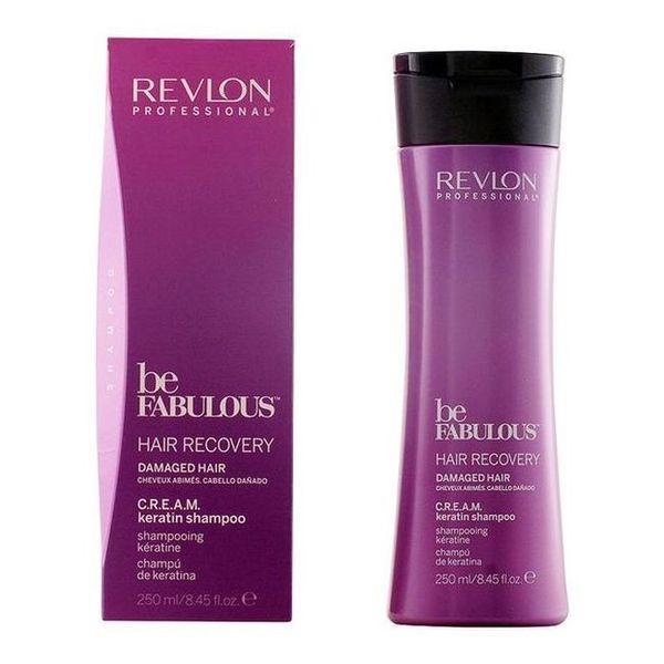Sampon cu Keratina pentru Par Deteriorat - Revlon Professional Be Fabulous Hair Recovery C.R.E.A.M. Keratin Shampoo, 250ml