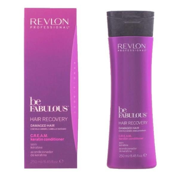 Balsam cu Keratina pentru Par Deteriorat - Revlon Professional Be Fabulous Hair Recovery C.R.E.A.M. Keratin Conditioner, 250ml imagine produs