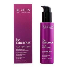 Ser pentru Repararea Varfurilor Deteriorate - Revlon Professional Be Fabulous Hair Recovery Ends Repair Serum, 80ml